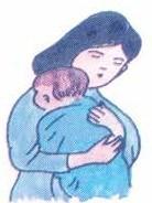 Sau khi cho bú, bế vác trẻ, vỗ nhẹ vào lưng