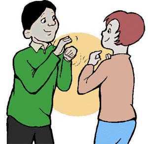 Hình ảnh giao tiếp với người câm điếc