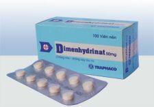 thuốc dimenhydrinat tác dụng chống say xe hiệu quả
