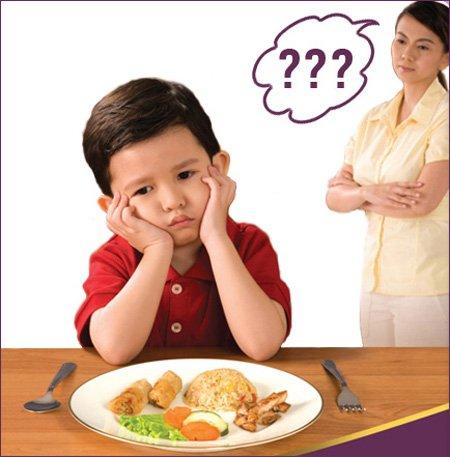 Hình ảnh trẻ chán ăn