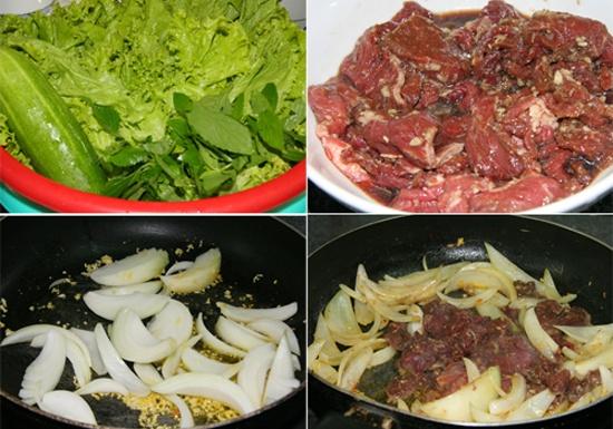 Cách làm bún thịt bò xào