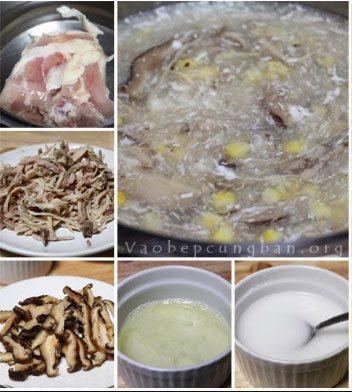Cách làm xúp gà nấm hương