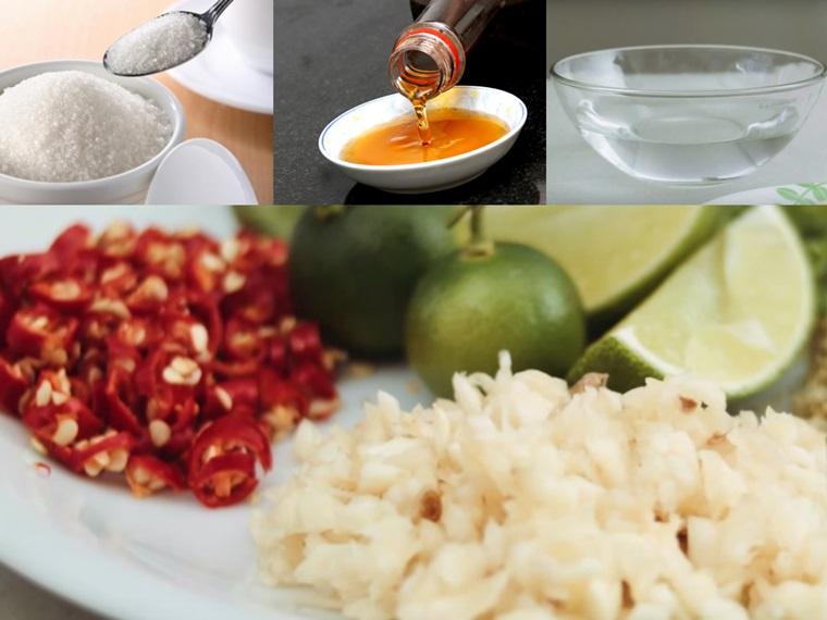 Nguyên liệu nước mắm chua ngọt