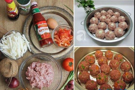 Nguyên liệu xíu mại cà chua