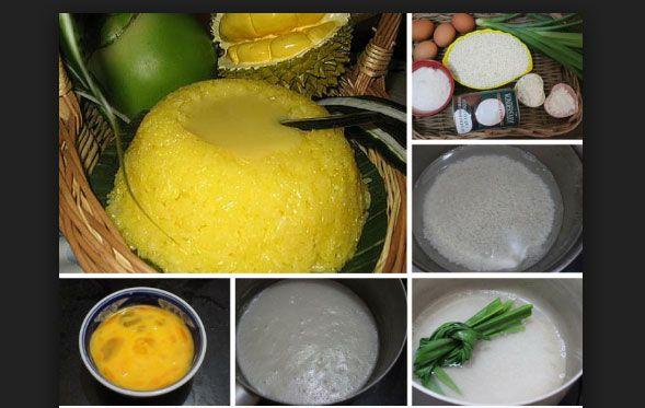Xôi xiêm nước dừa thơm ngon